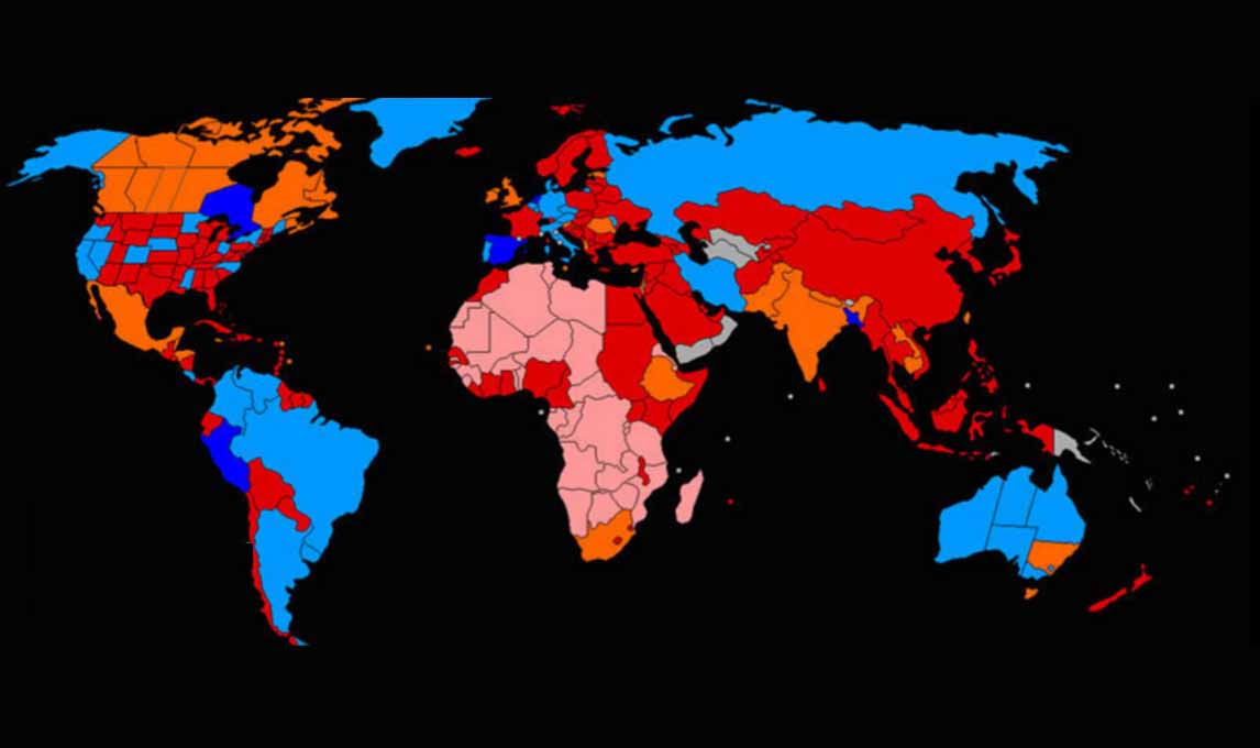 Lista krajów w których marihuana jest legalna