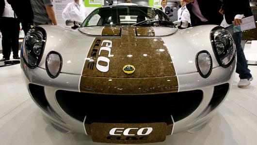 Lotus Elise jest ekologiczną wersją konopną, popularnego samochodu sportowego Lotus Elise