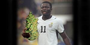 Piłkarz Ghany przyłapany na paleniu marihuany