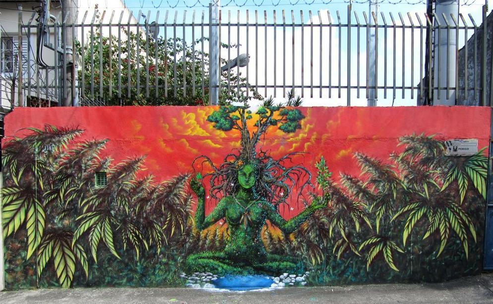 Graffiti z marihuaną