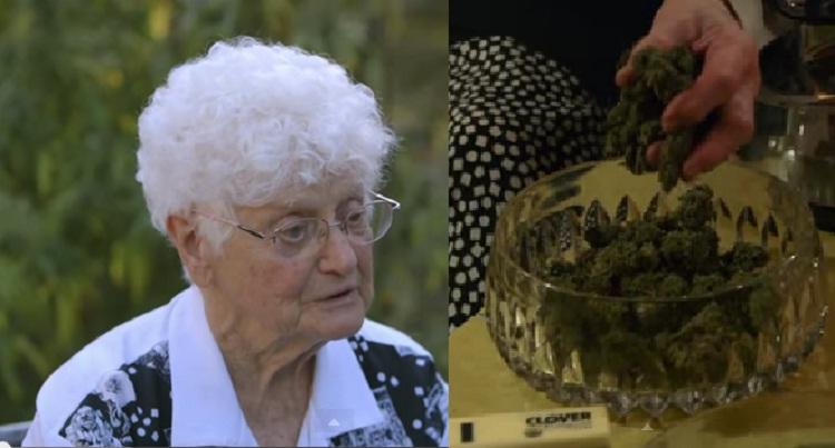 91 letnia babcia gotuje masło konopne i kurczaka z marihuana
