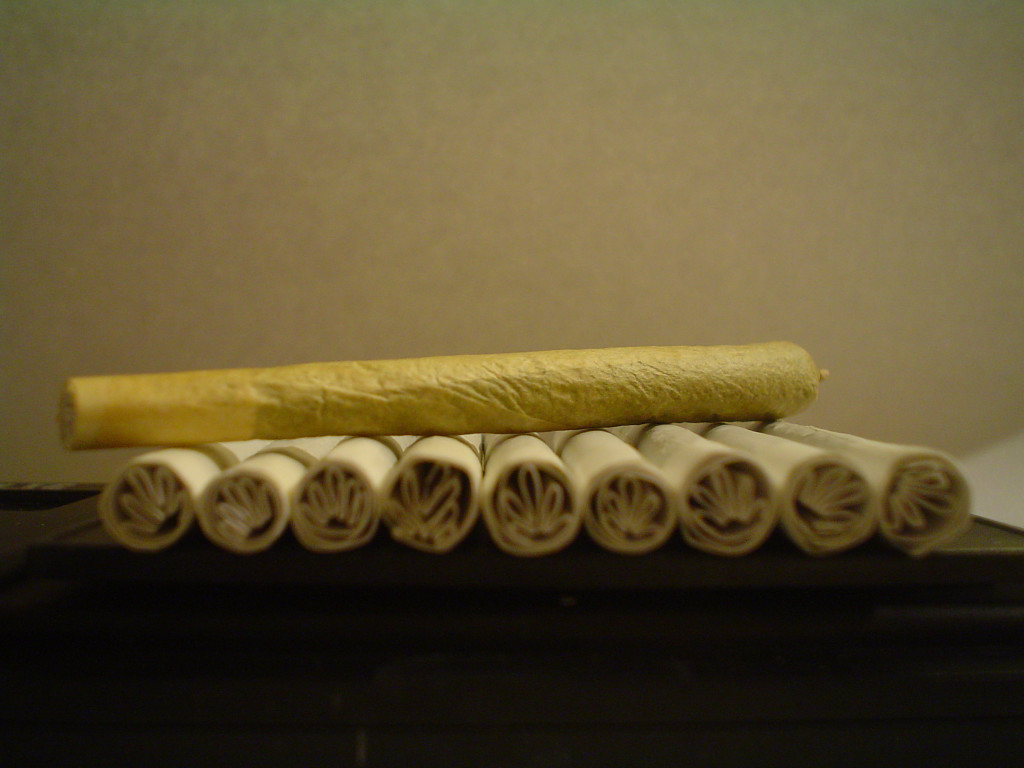 filterki do jointa w kształcie liścia marihuany