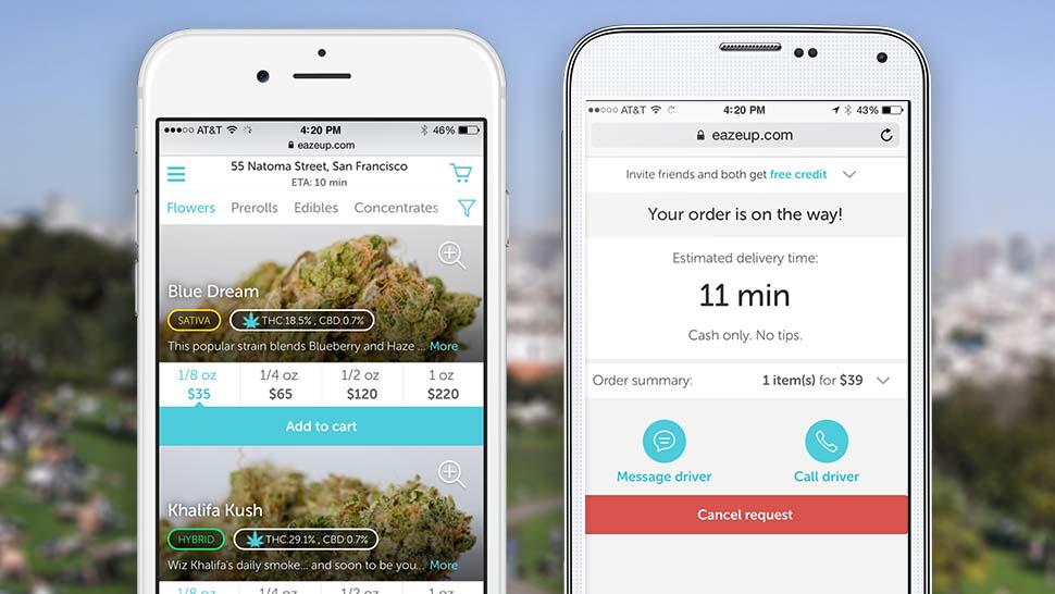 Eaze - aplikacja, która dostarczy medyczną marihuanę do domu w ciągu 10 minut