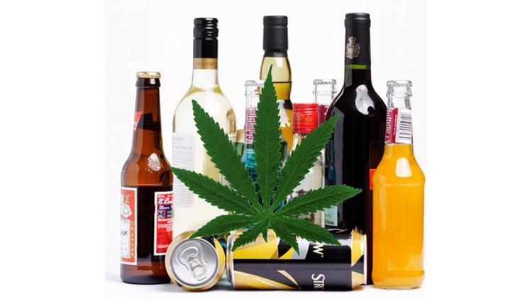 użytkownicy marihuany rzadko łączą ją z alkoholem