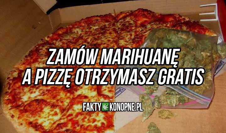 zamów marihuanę a pizze dostaniesz gratis