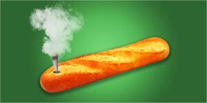 Palenie marihuany z bagietki – nowy sposób na drugie śniadanie