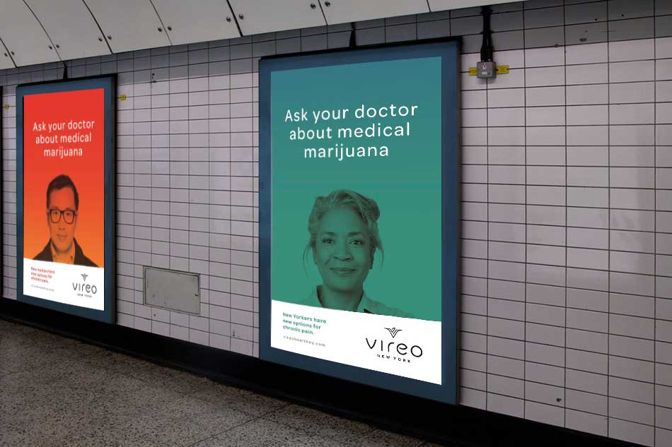 Reklama medycznej marihuany w nowojorskim metrze