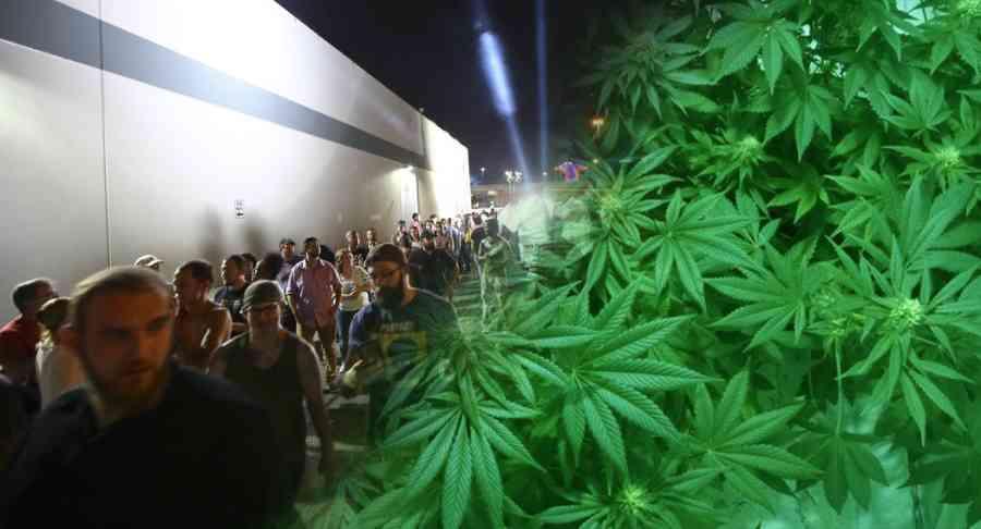 Tak wyglądały kolejki po legalną marihuanę w Las Vegas