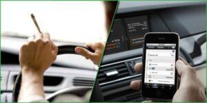 Używanie smartfona podczas jazdy bardziej niebezpieczne, niż jazda pod wpływem marihuany
