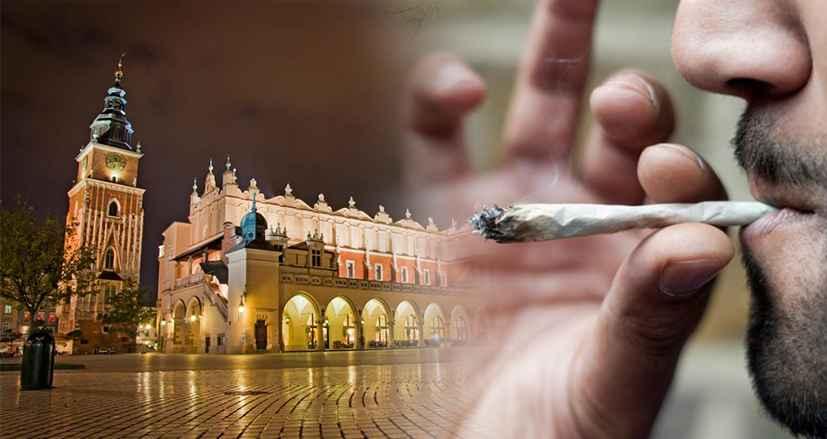 Zaproponował jointa policjantom na Krakowskim Rynku Głównym
