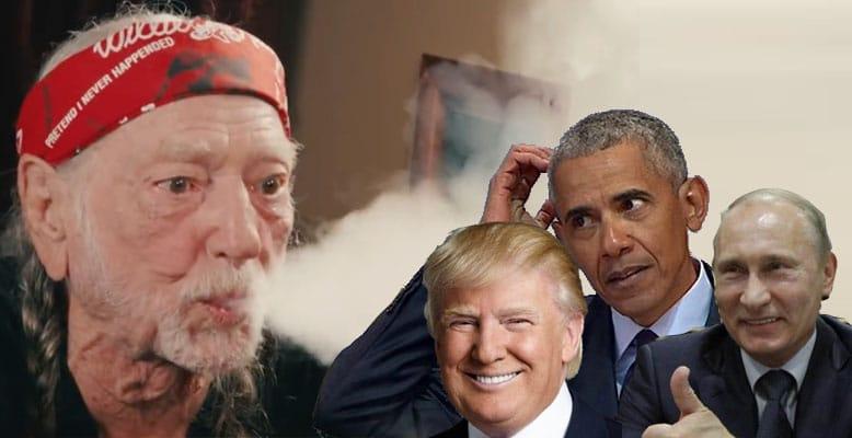 Willi Nelson chce zapalić marihuanę z Putinem, Trumpem i Obamą