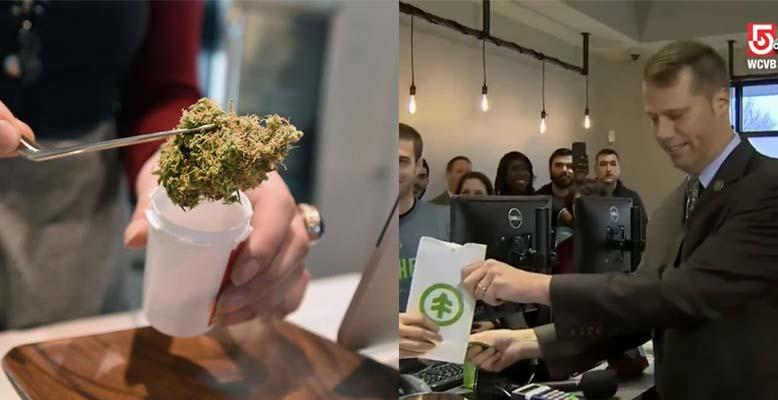 Burmistrz Massachusetts David Narkiewicz pierwszym nabywcą legalnej marihuany