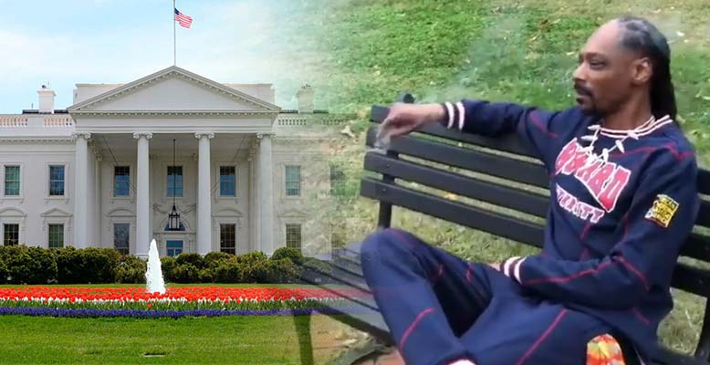 Snoop Dogg pali marihuanę przed Białym Domem