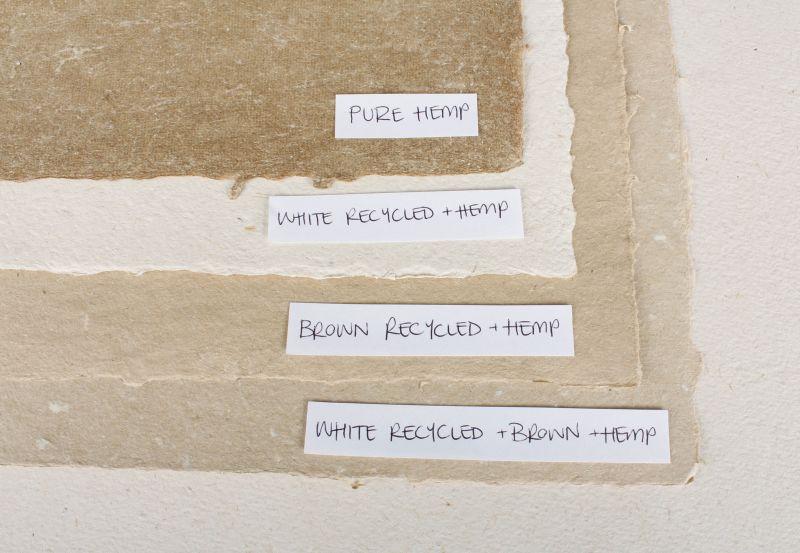 Papier z konopi - czysty, biały, brązowy z recyklingu