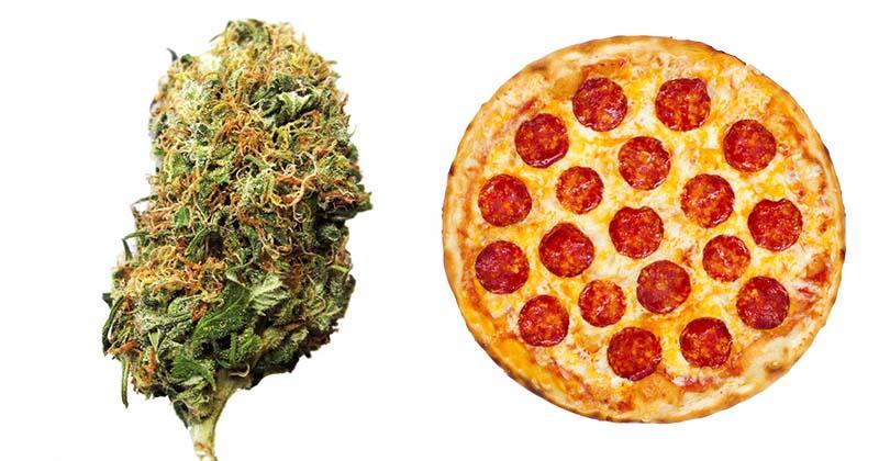 Pizza gratis do każdych zamówionych 14g marihuany
