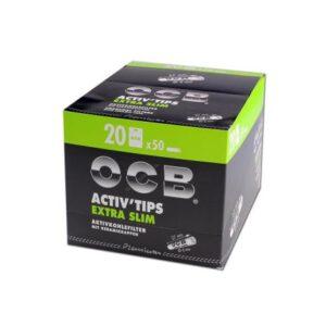 Filtry węglowe OCB Activ Tips ExtraSlim 50 szt.