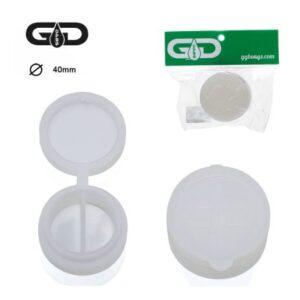 Pojemnik silikonowy na wosk Grace Glass Jar średnica 40 mm